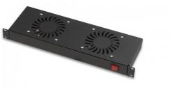 LANDE - Lande 2 Li Fan Modülü On/Off Switch Rack Montajı 19'' Uyumlu.