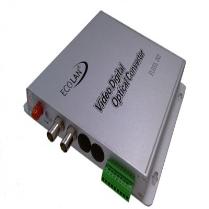 ECOLAN - Ecolan 2 Port Video Coax Fiber Çevirici Datalı Set.