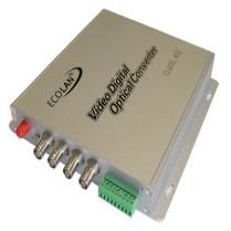 ECOLAN - Ecolan 4 Port Video Coax Fiber Çevirici Datalı Set.