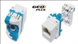 GEO PLUS - Geoplus Cat6 Utp Keystone Jack Mavi.