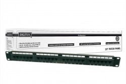 DIGITUS - Digitus Cat 6, Class E Patch Panel, Unshielded, 24-Port Rj45, 8p8c, Lsa, 1u, Rack Mount, Color Black.