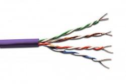 DIGITUS - Digitus Cat 6 U-Utp Installation Cable, 500mt., Lsoh, Awg23, Color Purple Data Kablosu